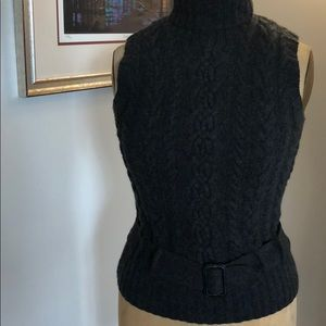 Heather Gray cable knit vest